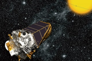 The Kepler spacecraft finds planets beyond our solar system by detecting changes in star brightness when a planet passes in front of a star.