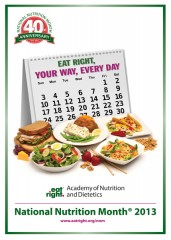 "National Nutrition Month 2013: ""Eat Right, Your Way, Every Day"""