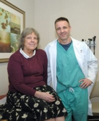 Dr. David Fiorella with patient Shelley Broven.