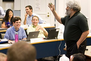 Darden Professor Ed Freeman Interacting With Students
