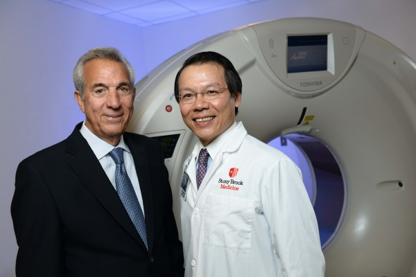 Charles A. Gargano, former U.S. Ambassador to Trinidad and Tobago, with Michael Poon, MD, Director of Advanced Cardiovascular Imaging at Stony Brook University Hospital and Professor of Radiology and Medicine (Cardiology) at Stony Brook University School of Medicine.