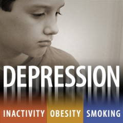 Teens who were depressed as children were more likely to smoke cigarettes and to be obese, as well as to exercise less.