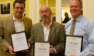 Wachovia Award Winners (L-R) Darden Professors Rich Evans, Frank Warnock and Tom Steenburgh