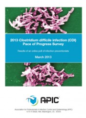 APIC issued the C. difficile Pace of Progress survey on activities that have been implemented in U.S. healthcare facilities in the last 3 years to stop...