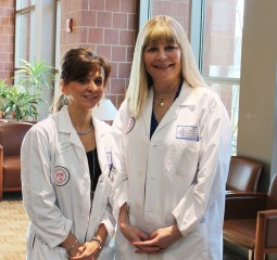 Left: Leah Scaramuzzo, MSN, RN-BC, AOCN, and Jane Fischer, RN, BSN, OCN, CCRC