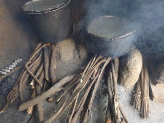 Wood-burning cookstoves cause air pollution and health problems.