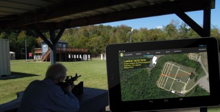 Illustration of the smartphone-based shooter location system developed by computer engineers at Vanderbilt's Institute for Software Integrated Systems