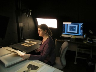 UK Libraries staff work to digitize archived materials for Kentucky Digital Library.