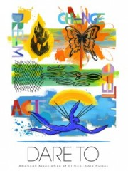 "The inspirational theme of AACN's 2013 National Teaching Institute & Critical Care Exposition is ""Dare To."""