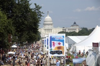 A view of the 2009 Smithsonian Folklife Festival. The annual Folklife Festival highlights grassroots cultures across the nation and around the world through...
