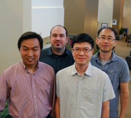 The Scripps Research Institute team included: Changchun Xiao, John Teijaro, Hsien Liu, and Seung Goo Kang (left to right).