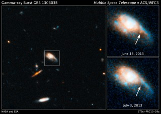 Hubble Captures Infrared Glow of a Kilonova Blast.  