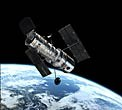This illustration shows the NASA/ESA Hubble Space Telescope in its high orbit 600 kilometres above Earth.