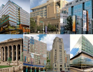 DF/HCC Member Institutions: (Top Row) Dana-Farber Cancer Institute, Beth Israel Deaconess Medical Center, Brigham and Women's Hospital, (Bottom) Harvard...