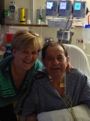 John Bauer, shown with his wife, Sue, is the 750th patient to receive a lung transplant at Loyola University Medical Center.
