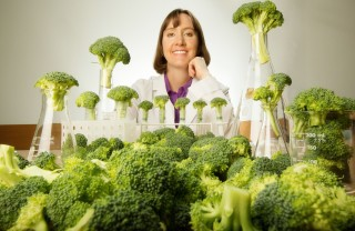 Sally Dickinson, PhD, is using broccoli to fight skin cancer.
