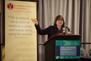 Anna Quindlen presents the annual Jordan J. Cohen Humanism in Medicine Lecture, sponsored by the Arnold P. Gold Foundation and the AAMC