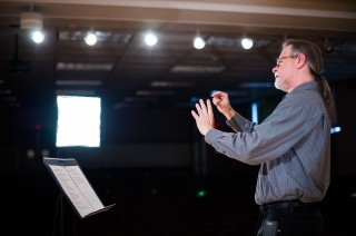 University of Rochester professor and Director of Institute for Popular Music John Covach records a lecture for Coursera, an education company that works...
