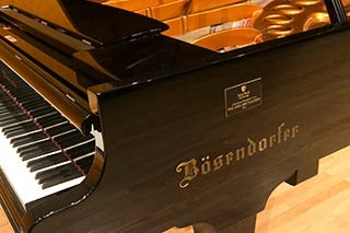 The Bosendorfer Imperial Grand Piano was donated by the Joel Foundation.