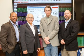 The Department of Energy has awarded Georgia Tech $1.7 million to help detect cyber attacks on our nation's utility companies. From left are School of Electrical...