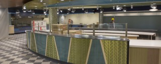At the new Binghamton University MarketPlace, customers will be able to see their food being prepared with fresh ingredients.