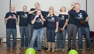 University of Louisville School of Medicine students shaved their heads in 2013 to raise funds for pediatric cancer research. They will do so again on Feb....