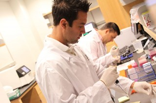 Roswell Park staff at work in the Institute's Center for Personalized Medicine (Buffalo, NY).