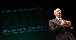 During his State of the University address on Jan. 31, Binghamton University President Harvey Stenger outlined plans to grow the University's enrollment...