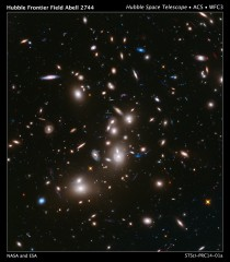 FRONTIER FIELDS IMAGE OF GALAXY CLUSTER ABELL 2744.   