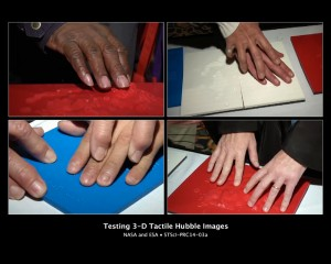 TESTING 3-D TACTILE HUBBLE IMAGES.   