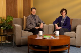 "Mona Shattell (left) and Barbara Harris with DePaul University's School of Nursing in Chicago are two of the co-authors of ""A Recovery-Oriented Alternative..."