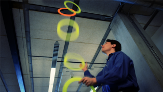 Johns Hopkins engineers, led by amateur juggler Noah Cowan, studied a juggling task to learn how the sense of touch contributes to rhythmic movement such...