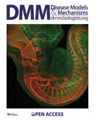 The research was featured on the cover of Disease Models & Mechanisms.