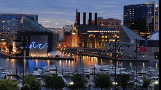 The Four Seasons Hotel looks out on Baltimore's upscale Harbor East waterfront neighborhood.