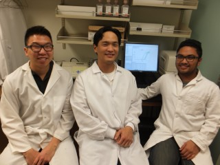 Study authors pictured include Elliott Kim (left) Philip Liu (middle) and Avelino De Leon (right).