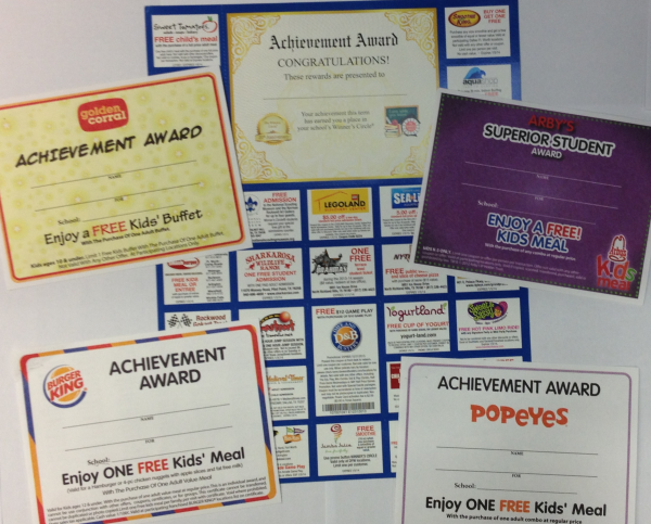 Rewarding students with coupons for fast food is a norm at many schools.