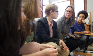 Associate Professor of Geology Michelle Markley works with her students at Mount Holyoke College,