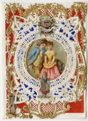 """Affection"" valentine created by Esther Howland, c. 1870s"
