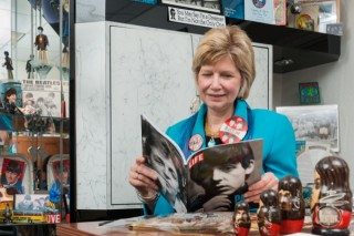 Debra Hess Norris, chair of art conservation at the University of Delaware, is well-versed in caring for her impressive collection of Beatles memoribilia.