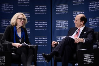 Mike Milken, chairman of the Milken Institute and chairman of FasterCures, and Lynn R. Goldman, dean of the Milken Institute School of Public Health at the George...
