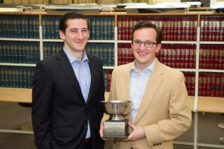 Jeremy Christiansen (left) and Stephen Dent were recently awarded Second-Best Brief in the National Moot Court Competition.