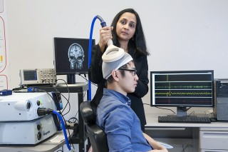 Sangeetha Madhavan and Tai Tri Nguyen demonstrate Non-invasive stimulation of motor centers in the brain may promote rehabilitation after stroke.