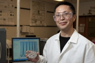 Bingqing Wei leads a research team at the University of Delaware that has discovered that fragmented carbon nanotube films can serve as adhesive conductors...