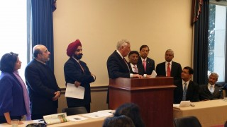 Rep. Steny Hoyer addressing the AAPI delegates during AAPI Legislative Day Dinner Reception on Capitol Hill on March 26th, 2014
