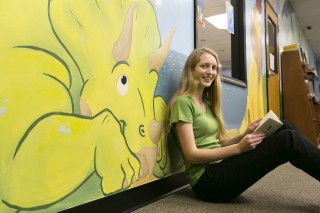 Lara Edwards spent more than 100 hours working on a mural she created for her local children's library.