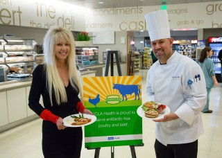 Antibiotic-free menu items at Ronald Reagan UCLA Medical Center