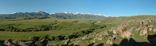 Panoramic view of the Byan Zhurek valley and setting near Tasbas, Afghanistan