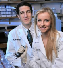 Dr. Jeffrey Zigman (left), Angela K. Walker, and their colleagues, identified new anti-depressant mechanisms and therapeutic approaches to treating depression.