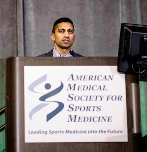 Irfan Asif, MD presenting at 23rd AMSSM Annual Meeting
