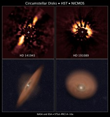 FINDING DERIS DISKS IN HUBBLE ARCHIVAL DATA.  
